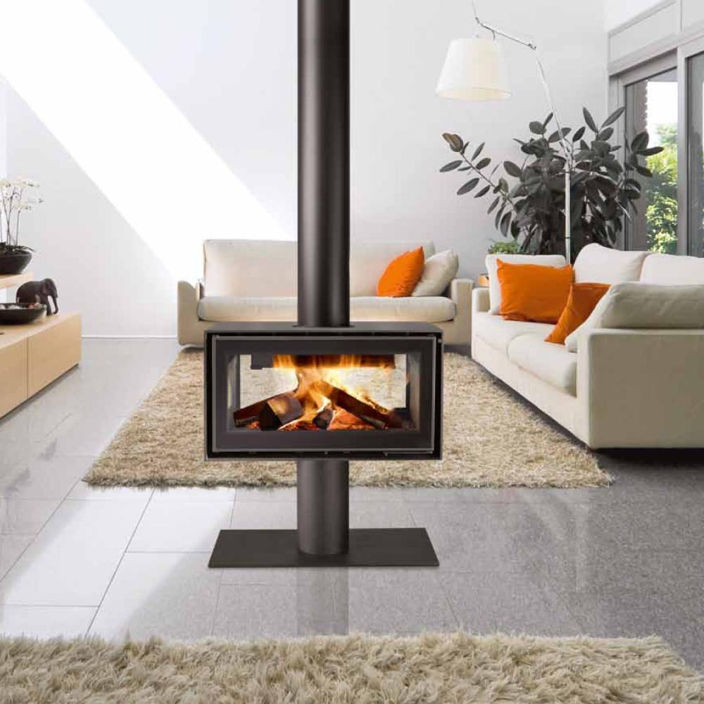 Le a chimenea metalica adf artesanos del fuego - Chimeneas de lena modernas ...