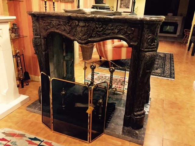 Le a chimenea clasica artesanos del fuego - Chimeneas de madera decorativas ...