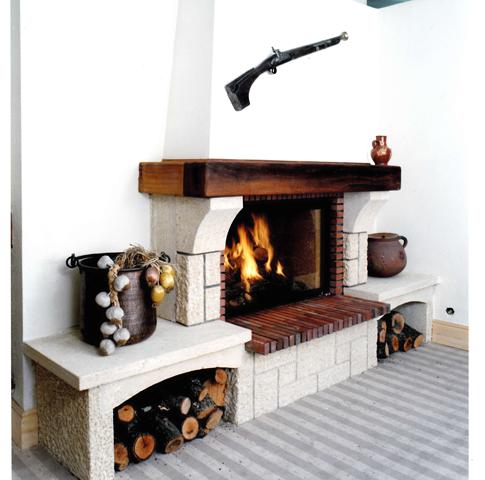 Le a chimenea r stica instalaci n y venta de chimeneas for Modelos de hogares a lena rusticos