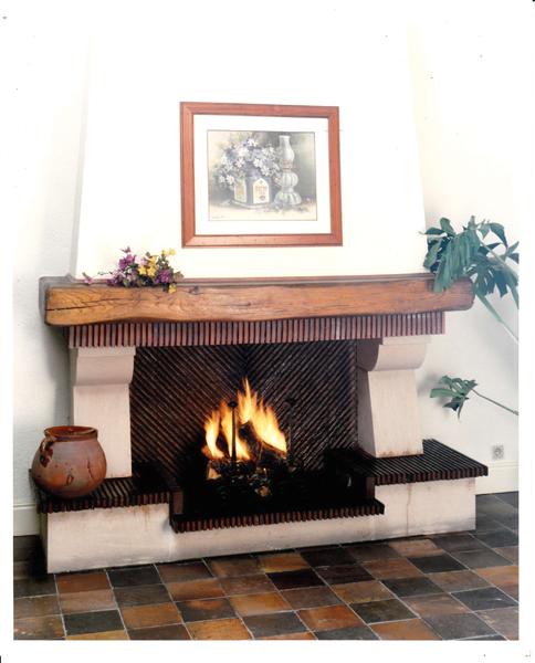 Le a chimenea r stica artesanos del fuego - Imagenes de chimeneas de lena ...